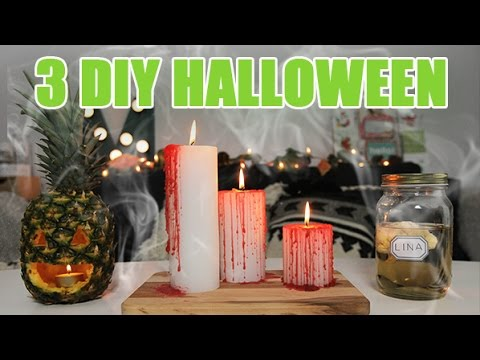 3 diy d co halloween pour un d cor terrifiant par youmakefashion youtube. Black Bedroom Furniture Sets. Home Design Ideas