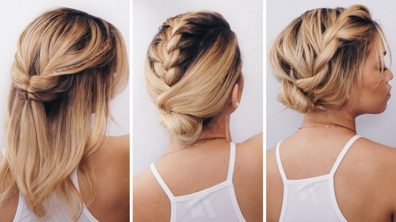 3 simple short hairstyles summer