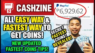 CASHZINE! ALL EASY WAY & FASTEST WAY TO GET COINS! SECRET UNLIMTED COINS! REVEALED! JULY 2020 UPDATE