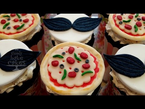 pizza cupcakes tutorial youtube