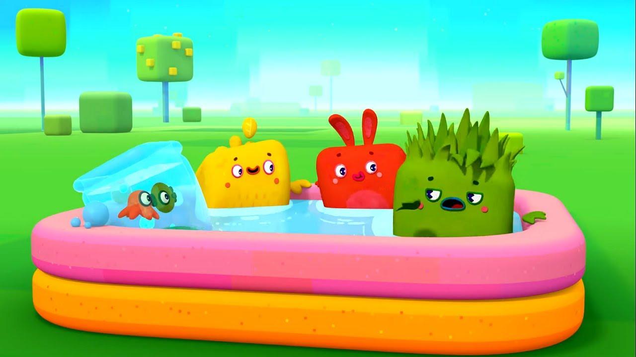 Четверо в кубе - Большой сборник мультфильмов про лето ☀️! - российские мультики для детей