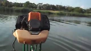 самодельный лодочный мотор из мотокосилки обзор и тест