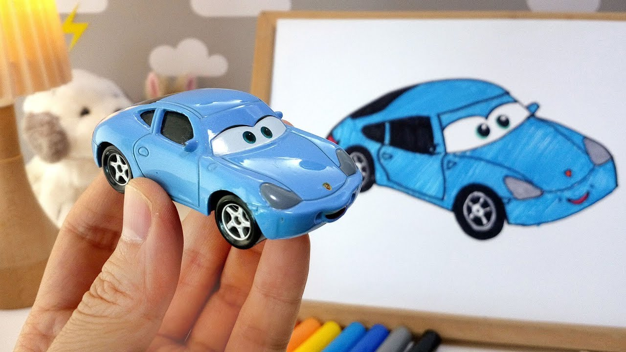 How To Draw Cars 3 Sally Carrera For Kids Coloring Pages Easy