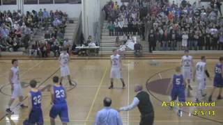 Acton Boxborough Varsity Boys Basketball vs Westford 2/5/13