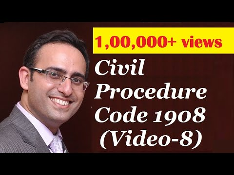 CPC 1908 [Video-8] - Jurisdiction Of Courts