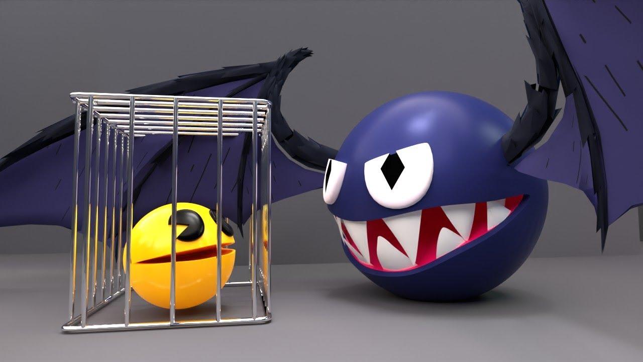 Download Pacman Vs Flying Bat Monster (Level 28 : Tropical Lava Maze)