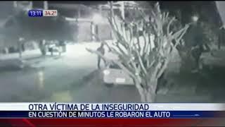 Solitario Ladron robó en cuestión de minutos auto de periodista