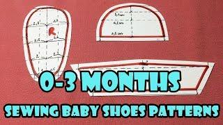 DIY - Sewing Baby Shoes Patterns Tutorial (0-3months) | Tạo mẫu cắt may giầy cho bé (0-3 tháng)
