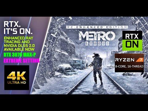 RYZEN 7 5800H NVIDIA RTX 3070 Laptop Metro Exodus Enhanced Edition 4K Extreme Setting |