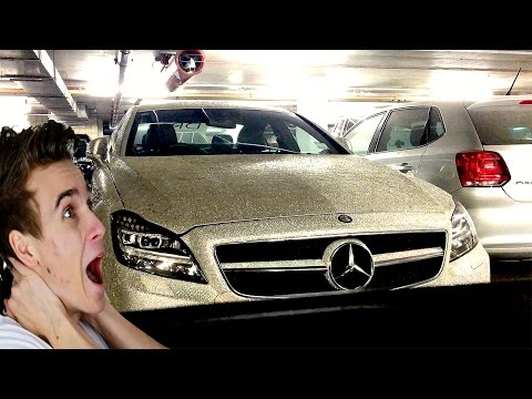 CAR COVERED IN DIAMONDS?!