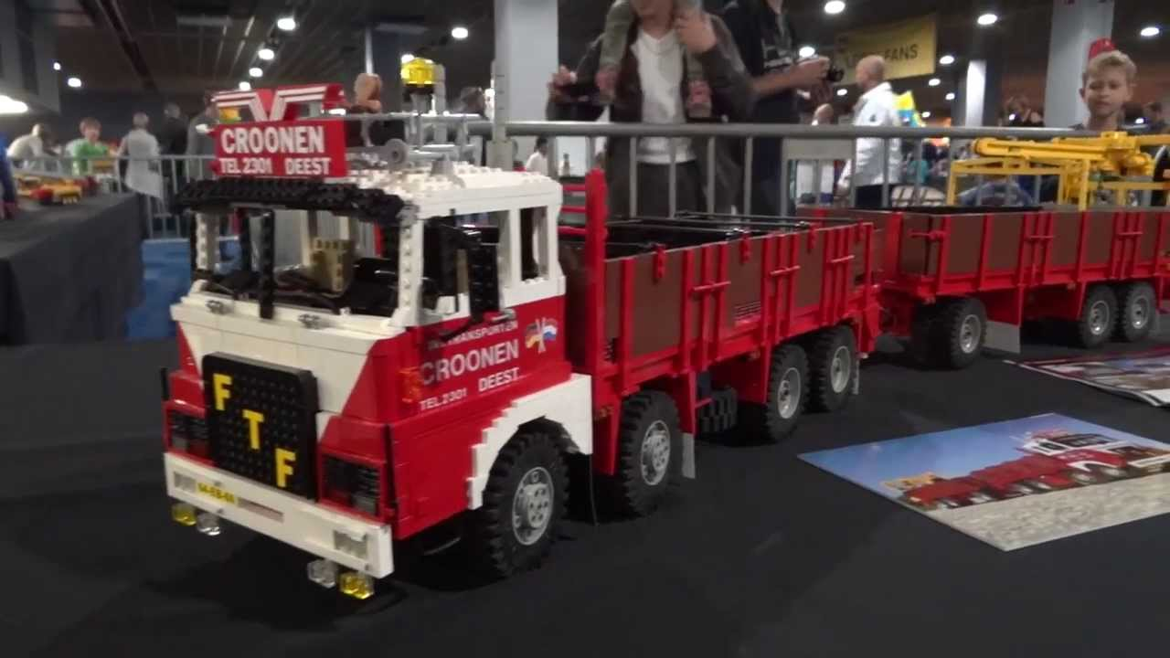 Lego model trucks, Legoworld 2013, Dennis Bosman and nkle - YouTube