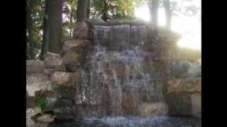 Искусственный 4-х метровый водопад на участке от