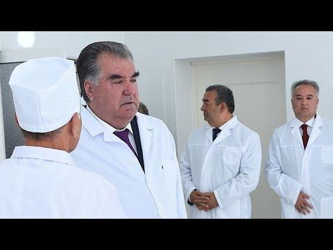 Рахмон открыл клинический центр в Кулябе