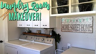 LAUNDRY ROOM MAKEOVER on a Budget | Before + After | Organization