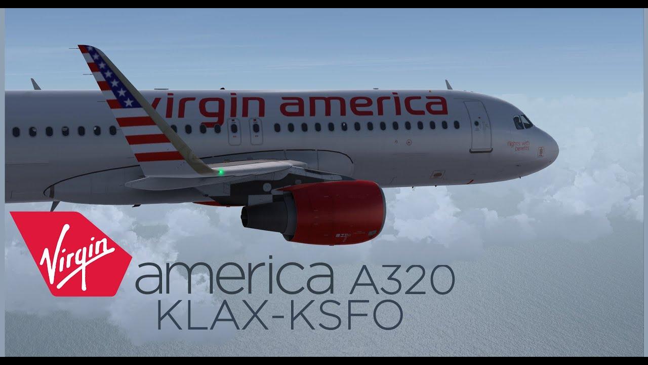 FSX ᴴᴰ   Aerosoft A320   Virgin America   KLAX to KSFO