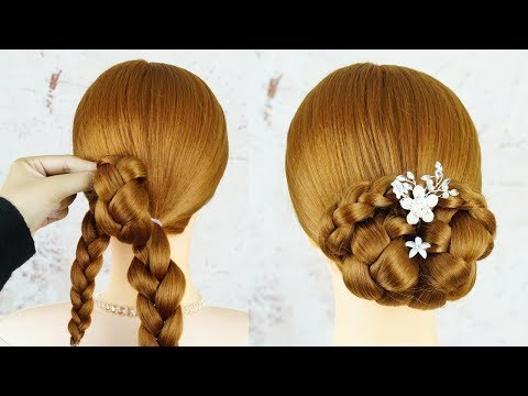 New Hairstyle For Girls - Easy Updo With Trick | Bridal Hairstyle | Wedding Hairstyle Simple thumbnail