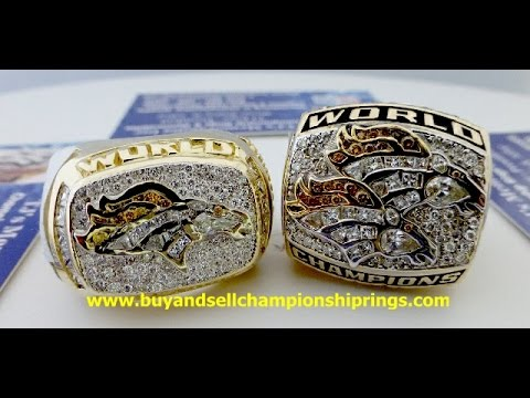 1997 & 1998 DENVER BRONCOS SUPER BOWL XXXII XXXIII CHAMPIONSHIP RINGS FOR SALE