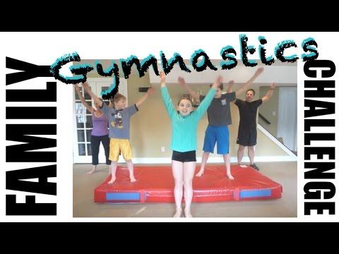 Family Gymnastics Challenge | Flippin' Katie