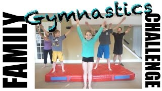 One of Flippin' Katie's most viewed videos: Family Gymnastics Challenge | Flippin' Katie