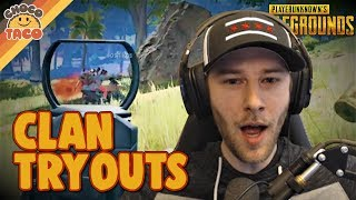chocoTaco Tries Out For A Clan - PUBG Gameplay
