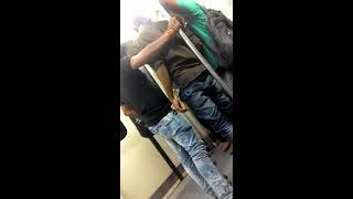 Fight in Delhi Metro train