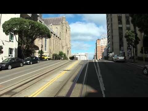 Cable Car ride through Nob Hill (HD)
