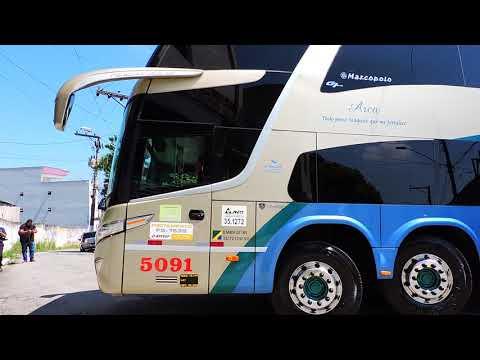 Arca Turismo 5091 saindo da garagem