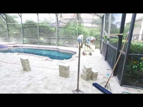 Remodeled Swimming Pool and Deck with FirePit in Table