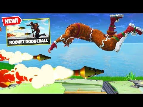 *NEW* ROCKET DODGEBALL Custom Gamemode In Fortnite Battle Royale!