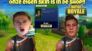 WE HAVE OUR OWN SKIN IN THE ITEMSHOP!!!! -Fortnite Battle Royale (NL)-New Item Shop