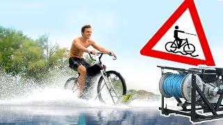 Mit dem Fahrrad über den See?! | Wakebike und Wakeboard WINCH bauen