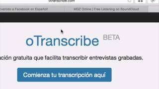 Aplicación para transcribir entrevistas grabadas