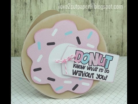 Pazzles Inspiration Vue - Print and Cut - Donut Gift Card Holder
