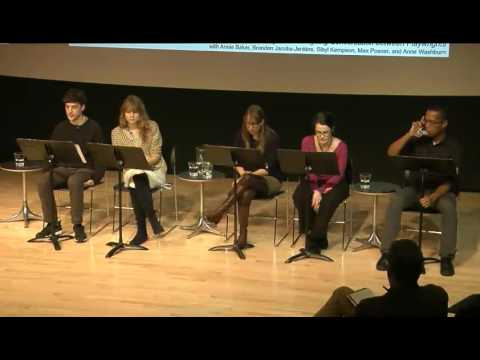 RE: (no subject): An Ongoing Conversation between Playwrights, October 30th 2014