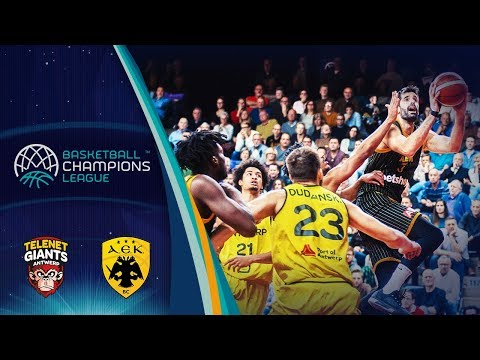 Telenet Giants Antwerp v AEK - Full Game - Basketball Champions League 2018-19