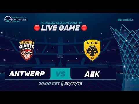 LIVE 🔴 - Telenet Giants Antwerp v AEK - Basketball Champions League  2019 (Geo-Restrictions apply!)