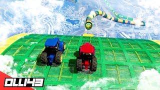 GTA 5 - What happens in a tractor stunt race? (GTA 5 Versus)