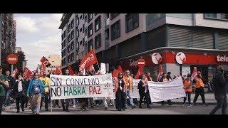 Manifestación en apoyo a los trabajadores y las trabajadoras de Amazon