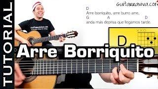Villancico Arre Borriquito en guitarra facil!