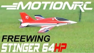 MotionRC / FREEWING STINGER 64HP-4S Review & Flight Demo by: RCINFORMER in HD