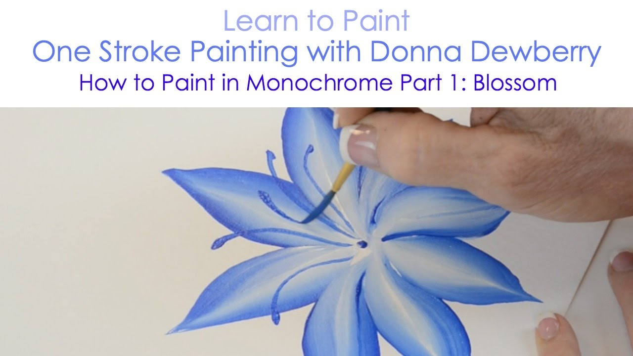 One Stroke Painting with Donna Dewberry  How to Paint in