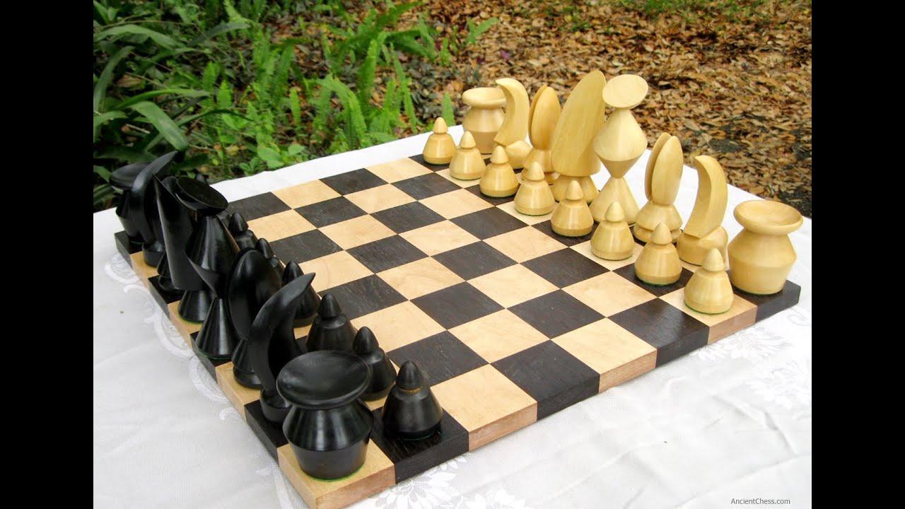 th century modern chess set designs bauhaus man ray max ernst  - th century modern chess set designs bauhaus man ray max ernst ancientchesscom  youtube