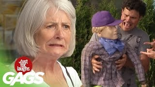 Dad Accidentally Throws Kid Over Car Prank! - Just For Laughs Gags