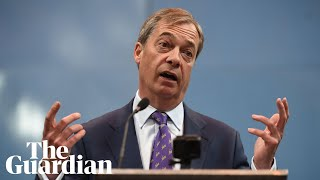 Nigel Farage launches Brexit party: 'No more Mr Nice Guy'