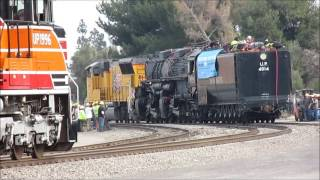 THE FULL MOMENT #2:UP 4-8-8-4 Big Boy #4014 to WC and other trains 1-26-14