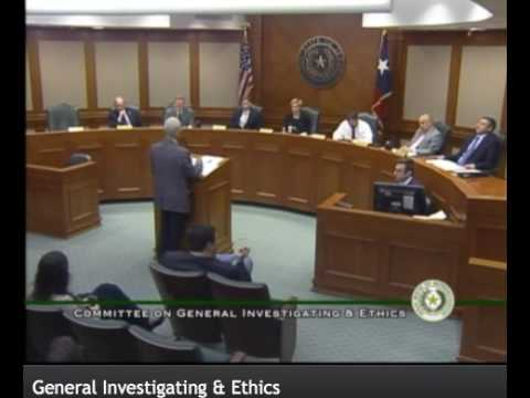 House General Investigating and Ethics Committee - Testimony by Jack Gullahorn on HB 503