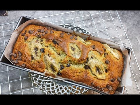 kek-pisang-coklat-chip-mudah-tanpa-mixer-(chocolate-chip-banana-cake)