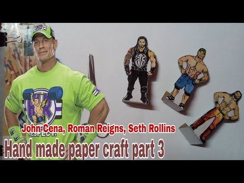 DIY paper toy | Hand made paper toy for kids | Wwe fun toy for kids