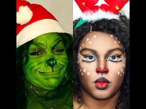 Christmas Character makeup #TheGrinch Tutorial :Collab ...