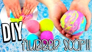 DIY FLUBBER SOAP | How To Make SQUISHY Soap!!